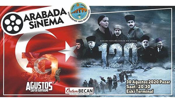 """30 AĞUSTOS ZAFER BAYRAMI """"ARABADA SİNEMA ETKİNLİĞİ""""YLE KUTLANDI"""